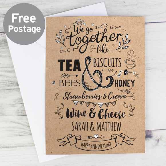 Personalised We Go Together Card