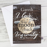 Personalised Love To The Moon & Infinity Card