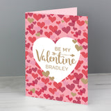 Personalised Valentine's Confetti Hearts Card