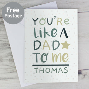 Personalised Like A Dad Father's Day Card Main Image