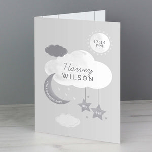 New Baby Moon and Stars Card