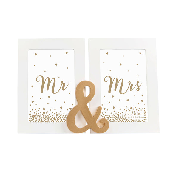 Mr and Mrs Double Photo Frame