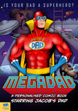 Mega Dad Personalised Comic Book