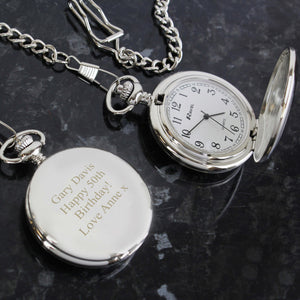 Personalised Mens Classic Pocket Watch