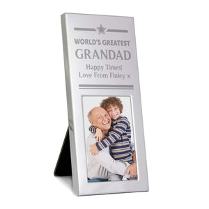 Personalised World's Greatest Grandad Photo Frame Main Image