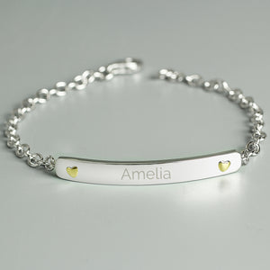 Personalised Sterling Silver Bar Bracelet