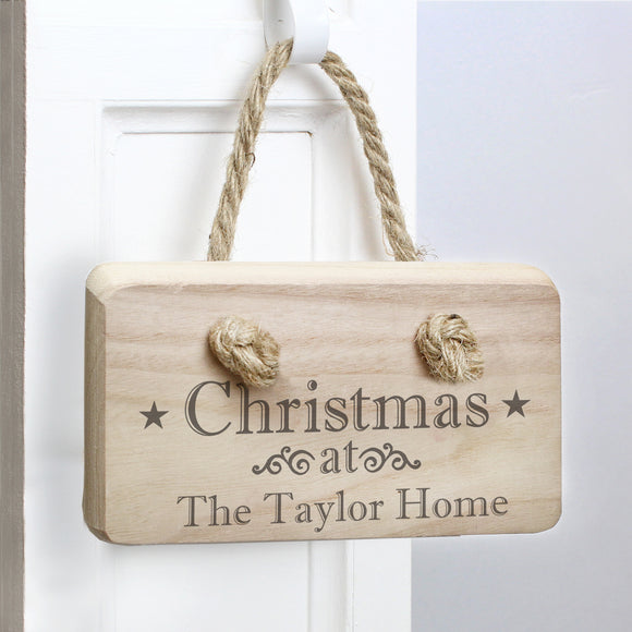 Personalised Christmas Wooden Sign