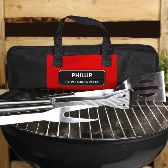 Personalised Stainless Steel BBQ Kit Main Image 1