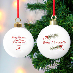 Personalised Seasonal Sprig Bauble