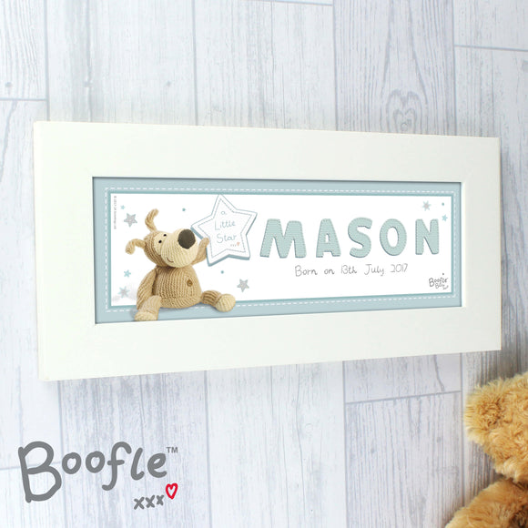 Boofle Personalised Name Frame Blue