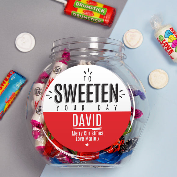 Personalised To Sweeten Your Day Sweet Jar