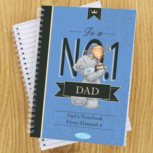 Personalised No.1 Dad Me to You Notebook Main Image