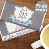 Personalised No.1 Dad Chocolate Free Postage