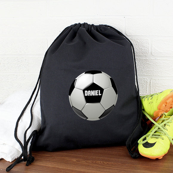 Personalised Football Black Swim & Kit Bag
