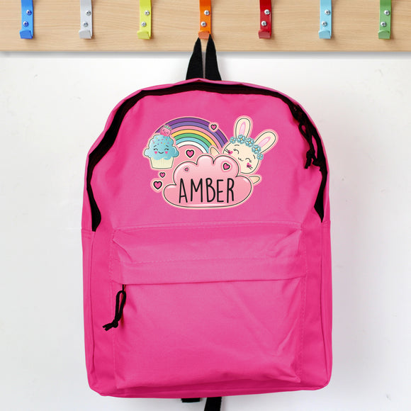 Personalised Pink Bunny Backpack
