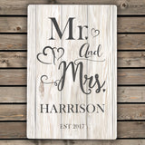 Personalised Mr & Mrs Metal Sign