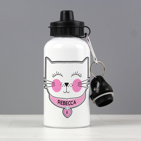 Personalised Cute Cat Water Bottle