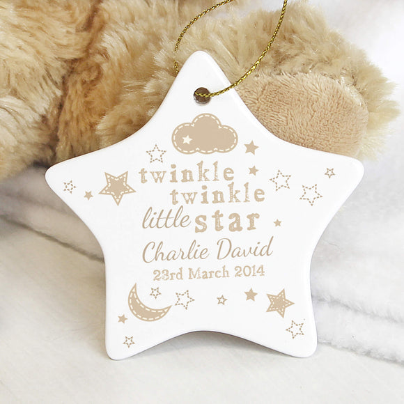 Personalised Twinkle Twinkle Ceramic Sign Main Image