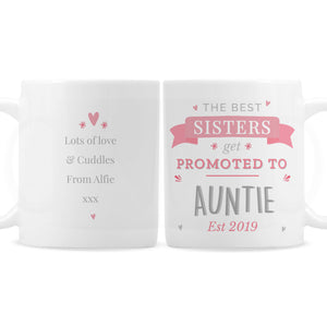 Personalised Promoted To... Pink Mug