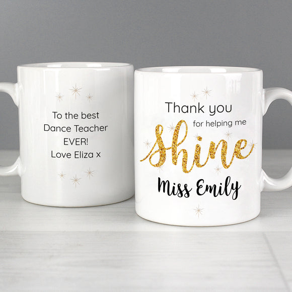 Personalised Teacher Shine Mug