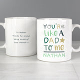 Personalised Like A Dad To Me Mug Front and Back