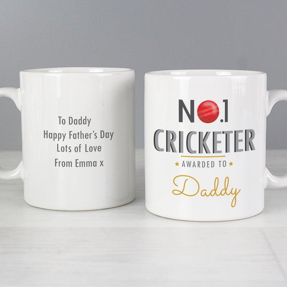 Personalised No1 Cricketer Mug Front and Back Main Image