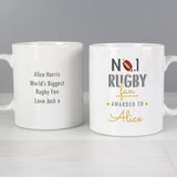 Personalised No1 Rugby Fan Mug Front and Back 2