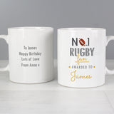 Personalised No1 Rugby Fan Mug Front and Back 4