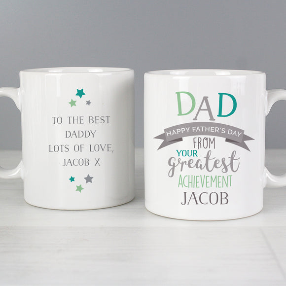 Personalised Dad Greatest Achievement Father's Day Mug Main Image