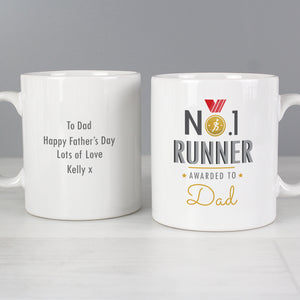 Personalised No1 Runner Mug Main Image