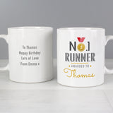 Personalised No1 Runner Mug Front and back 3
