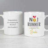 Personalised No1 Runner Mug Front and back 2