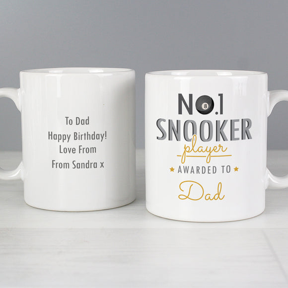 Personalised No1 Snooker Fan Mug Main Image