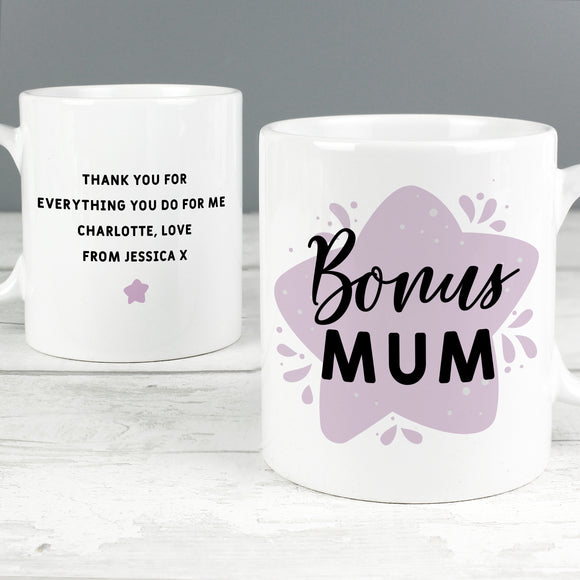 Personalised To My Bonus Mum Mug