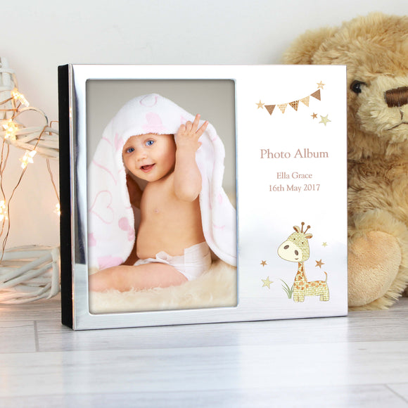 Personalised Hessian Giraffe Photo Frame Album