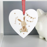 Personalised Hanging Heart with Bunny 3