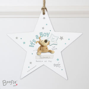 Personalised Boofle It's A Boy Hanging Star