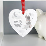 Personalised New Baby Hanging Heart Decoration 1