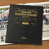 Leather Cover Rugby Union Newspaper Book