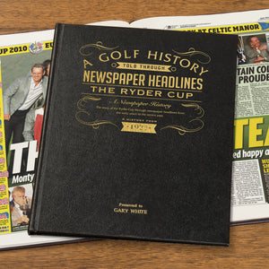 Personalised Ryder Cup Golf Book