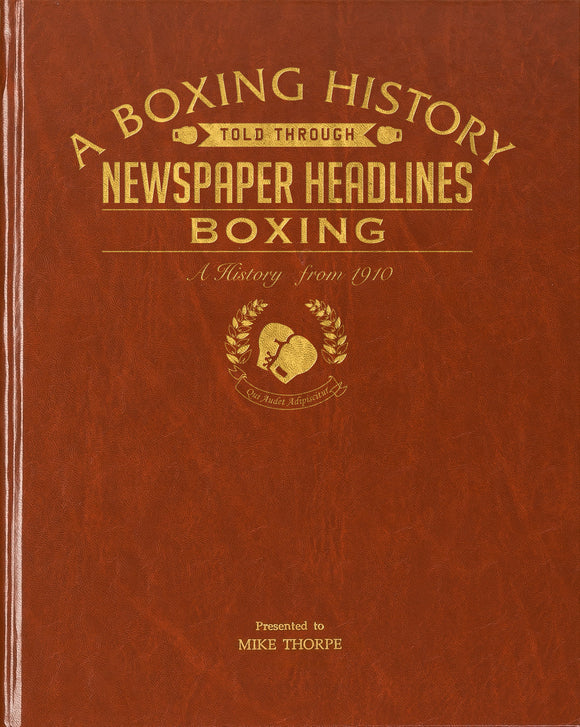 A4 Boxing Newspaper Book