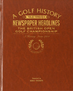 A4 The Open Golf Newspaper Book