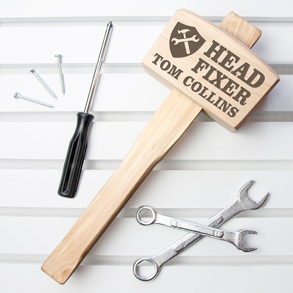 Head Fixer Personalised Wooden Mallet
