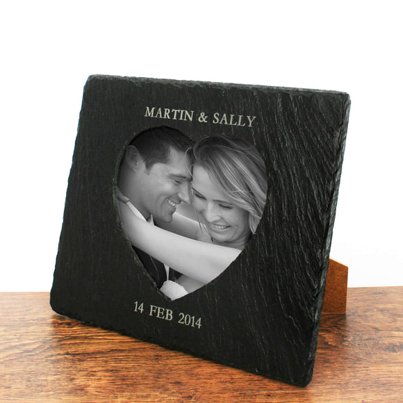 Personalised Heart Shaped Photo Frame