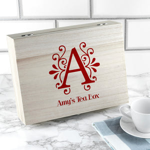 'Love Chai' Tea Box With Initial