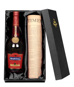 Martell VSOP Cognac and Original Newspaper