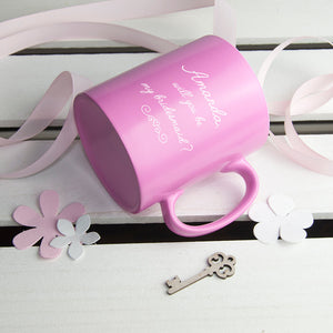 Bridesmaid Hold My Dress While I Pee Personalised Mug