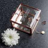 Personalised Rose Gold Glass Trinket Box