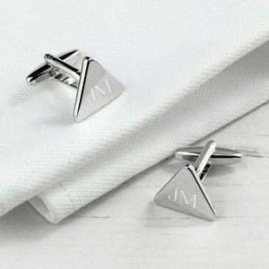 Personalised Rhodium Plated Cufflinks