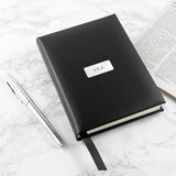 Personalised Black Leather Notebook